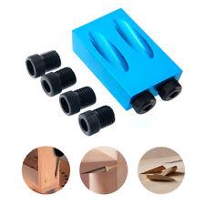 6/8/10mm Woodwork Guide Oblique Hole Positioner Angle Drill Bit Locator Set Kit