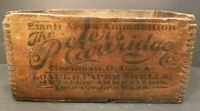 The Peters Cartridge Co Wooden Ammunition Box Cincinnati Ohio Finger JointCorner