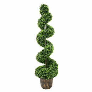 90cm Spiral Tree Boxwood Topiary artificial Plant Peanut Twisted Potted plants