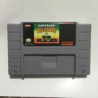 Super mario all stars + world SNES Super Nintendo Video Game USA Version