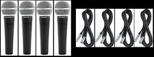 (4) New Shure SM58 Vocal Mics & Cables Authorised Dealer Make Offer Buy It Now!