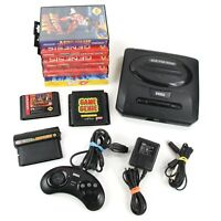 Sega Genesis Console Bundle Model 2 MK-1631 System Tested Controller 8 Games