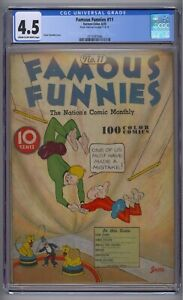 FAMOUS FUNNIES #11 CGC 4.5 HTF DELL GOLDEN AGE