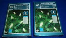 Holiday Time Mini Light Set - Clear Color-NEW IN BOXES 120CT