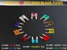 10pcs Peugeot Vehículo Fusibles Set Mini Cuchilla 10 15 20 25 30AMP Alta Calidad