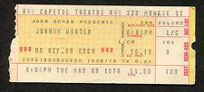 1976 Johnny Winter Concert Ticket Stub Capitol Theatre Passaic Mean Town Blues