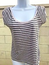 One Step Up Blouse Women Size Small Striped 100% Cotton