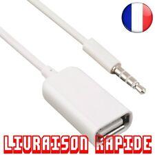 3.5mm Mâle AUX Jack USB Femelle Convertisseur Cordon Câble Voiture Accessoires