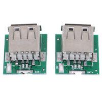 2Pcs Micro USB 5V Li-ion 18650 Caricabatteria Modulo Banca di alimentazione DLO