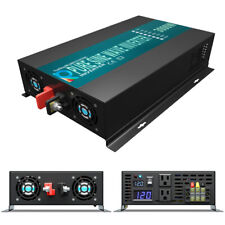 Wzrelb 3000W Pure Sine Wave Power Inverter 12V to 120V 6000w surge Car Motor Van