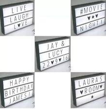 DEL Cinema style lightbox A4 69 modifiable lettres créer Personnalisé Message