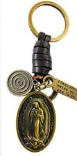 Our Lady of Guadalupe Key Chain Brass Metal Key Ring Catholic Gift