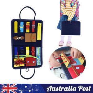 Montessori Busy Board Toddler Sensory Educational toy Fine Motor skills AU Stock