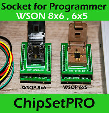 SMD SPI IC Socket Adapter WSON 8 QFN8 PIN 6x8mm, 6x5mm Chips -Flash 25x 24x DFN