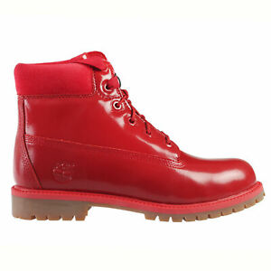 New Timberland Youth 6-Inch Premium Waterproof Boots (A151B)  Red Shine