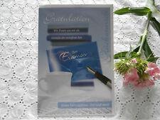 Elegante Glückwunschkarte Geldkarte Examen blau Abitur