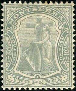 Montserrat 1908-14 KEVII  2d Greyish Slate  SG.38 Mint (Hinged)   Wmk.MCCA