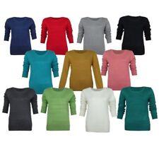 Cotton Crew Neck Jumpers & Cardigans Plus Size for Women