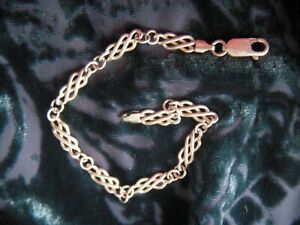"""Vintage Solid 925 Italy Silver Celtic Knot Style Bracelet 7.25"""". 7.09grams B31"""