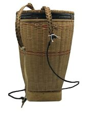 Primitive Adirondack Trapper Backpack Hunter Basket Hand Woven Vintage Backpack