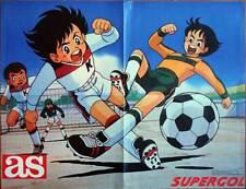 Poster de Oliver y Benji. Supergol periódico AS. Años 80