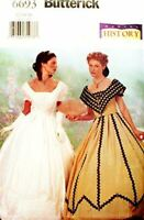 Butterick Sewing Pattern 6693 Misses Victorian Dress Costumes Size 12-16