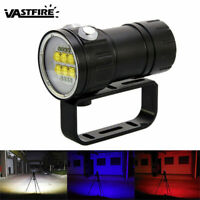 Underwater Photography Video Light 14 LED 50400LM Scuba Diving Flashlight Lamp