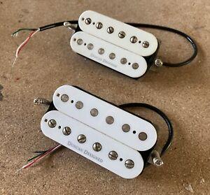 Set of Seymour Duncan Designed HB103 - WH Humbucker pickups, rarer White Bobbins