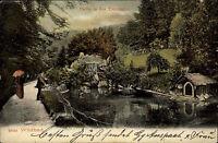 Wildbad Schwarzwald AK 1906 Partie in den Enzanlagen Parkanlage Park Landschaft