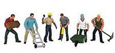 Spur 0 - Bachmann 6 Figuren Bauarbeiter -- 33155 NEU