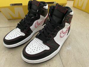 Nike air Jordan 1 Retro High OG Defiant White Black Gym Red US Sz 6