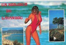 LAVANDOU Francia PIN UP Sexy Nude Beach Girl PC Circa 1980 Viaggiata