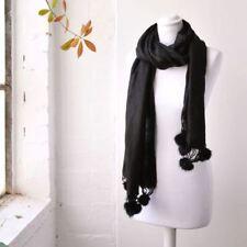 Bufanda de mujer negro de piel