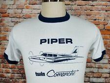Vtg 80`s Piper Twin Comanche ,Small aircraft ,Pilots,Planes ,50/50,T Shirt Sm