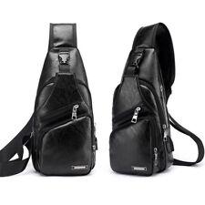 Unisex Laptop Backpack Rucksack School Shoulder Bag Chest Pack USB Charging Port