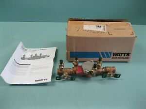 "1/2"" NPT Watts 007 QT Bronze Double Check Valve Backflow Preventer NEW H7 (2895)"