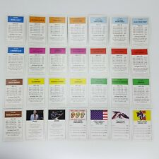 Monopoly The Rolling Stones Deeds Cards Replacement Game Piece 2010 Complete Set
