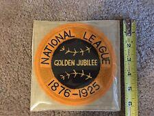 1876-1925 NATL LEAGUE GOLDEN JUBILEE WILLABEE & WARD COOPERSTOWN COLLECTN PATCH