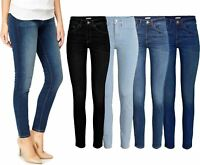 Womens Ladies Ex-Zara Spandex Stretch Jeans Dark Black Wash Denim Trousers 8-16