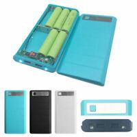 2 USB Ports 8x 18650 DIY Portable Battery Holder LCD Display Power Bank Case Box