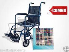 COMBO Lightweight Folding Transport Chair Wheelchair + Reusable Soft Underpad