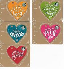 Starbucks Hong Kong 2017 Happy Valentine's Day gift cards set, US seller