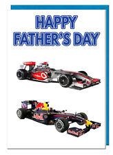 Formula 1 F1 Themed Father's Day Card - For Dad Grandad Stepdad Daddy Husband