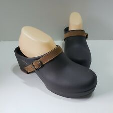 NEW -CROCS Clog Brown  Sarah Dual Comfort Slip On- Heels Shoes Closed Sz. W 8