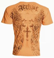 Archaic AFFLICTION Mens T-Shirt BLASTER Skull Cross Tattoo Biker UFC SMALL  $40