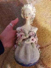 vintage Cordey corday figurine 5054 porcelian lady women of roses circa 1940's
