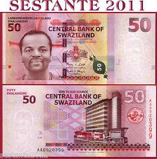 SWAZILAND  SWASILAND  50 EMALANGENI  6.9. 2010 - P. 38  -  PREFIX AA - FDS / UNC