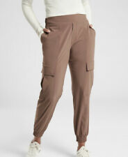 Athleta Chelsea Utility Jogger Mineral Brown Size 4P  Lightweight #530630
