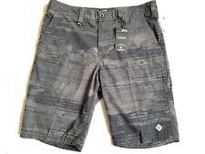 NWT Men's Cotton Short Union Sea WA Bermuda Print Black Gray SZ: 34