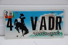2004 Wyoming License Plate personalized  4 VADR  Darth Vader
